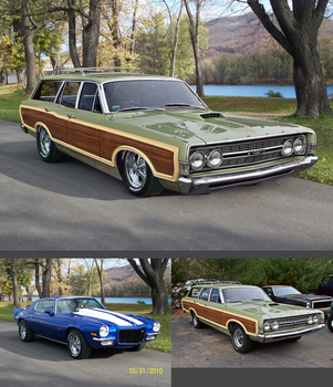 68' Ford Torino Squire by rubrduk Before And After by rubrduk