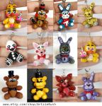 Five Nights at Freddy's Plushies by ArtzieRush