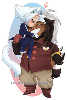 Commission - Barnaby and Jay by Beedalee-Art