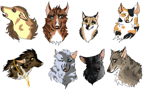 Wolf / Canine adoptables by khasaki