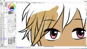 Burgundy Eyes WIP by Musa-Eyre