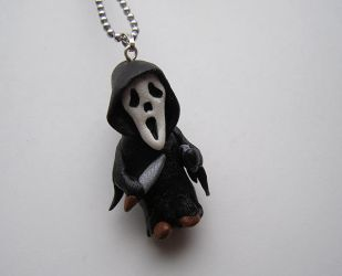 Ghostface - Scream Necklace by RavenMedia