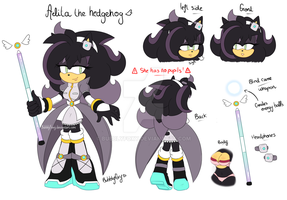 Aelita the hedgehog reference 2017 by BubblyFoxy