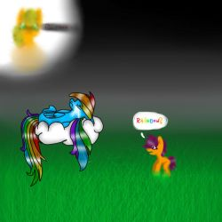 Sad Rainbow Dash by PopcorningBlue