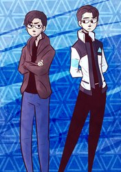 Detroit Become Human - Gavin and RK900 by akkame