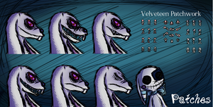 Horror RPG - Patches - Velveteen Patchwork Concept by CarillonNightmares