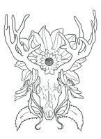 Swiggity Swag, Tattoo of a Stag. by MikDi