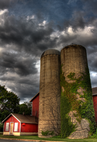 Some Barn Silos -hdr by tCentric-media