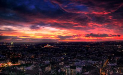 Prague sunset by JackieTran