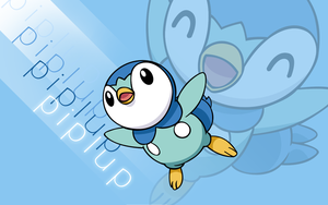 Piplup Vector Wallpaper 2 by TheIronForce
