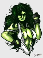 THE SAVAGE SHE-HULK!!! by SparkieTheArtist