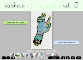 + CREEPY |STICKERS SET 3| by natieditions00
