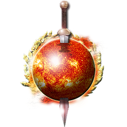 Steampunk Sun with Sword Icon by yereverluvinuncleber
