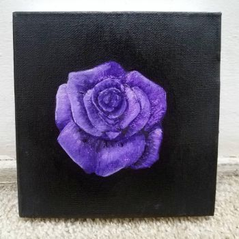A purple rose acrylic painting by inthemouthofmadness