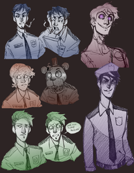 FNAF Sketches by NEOmi-triX