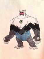Heroes United Shocksquatch Omniverse Style by Supersketch1220