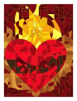 Sacred Heart Of Jesus by ScarletWarmth