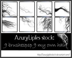 brushes own hair part 5 by AzurylipfesStock