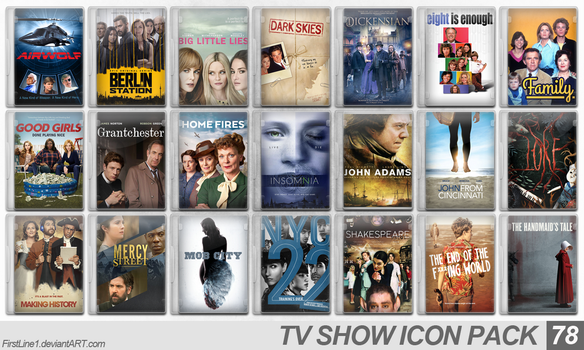 TV Show Icon Pack 78 by FirstLine1