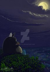 Totoro  playing the ocarina by Syntetyc