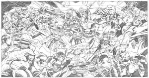 BATMAN FAMILY versus ROGUES GALLERY! by ScottMcDaniel