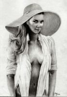 'Fae in sun hat': by Richie Pulvera by Trench-ADF
