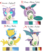 CLOSED Pokemonfusion Eggs Auction by Sanidalee