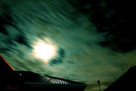 Night Sky (Clouds) by VisionThroughTheLENS