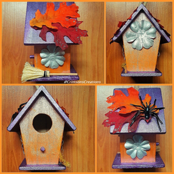 Halloween Themed Bird House by CrimsonsCreations