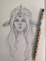 Unicorn girl))) by JuShyArt