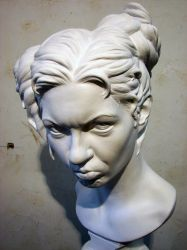 malicious lady in plaster by death-a-holic