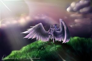 Twilight Sparkle (Collab with lil' sis) by Crazyaniknowit