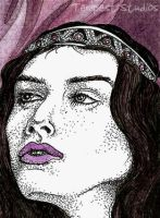 Violet Queen ATC by TempestErika