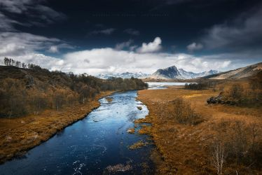 Autumn River by Stridsberg