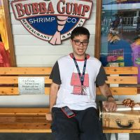Me in Tom Hanks' shoes at Bubba Gump Shrimp by hamursh