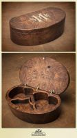 Byzantine olive wood box by WSi