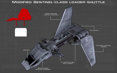 Sentinel-class loader shuttle tech readout [New] by unusualsuspex