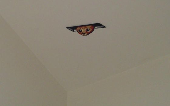 Hama Beads - Ceiling Cat by acidezabs