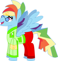 Hoofstock Rainbow Blitz by red-pear