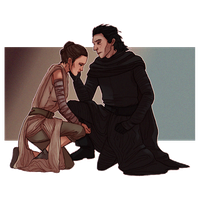 Rey and Kylo by Teq-Uila