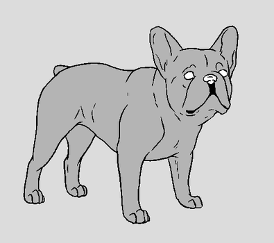 Dog Template - French Bulldog by NaruFreak123-Bases