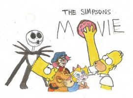 10th anniversary of The Simpsons Movie by brazilianferalcat