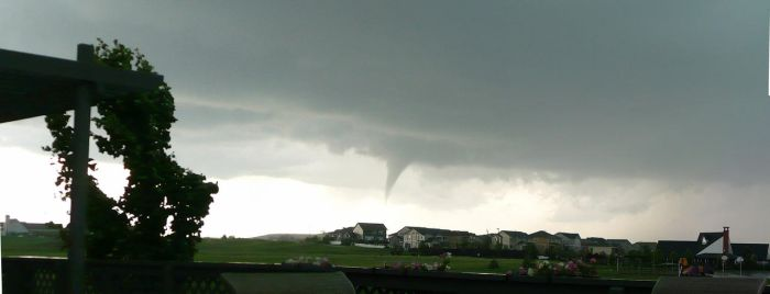 Funnel Cloud Panorama by ICPJuggalo1988