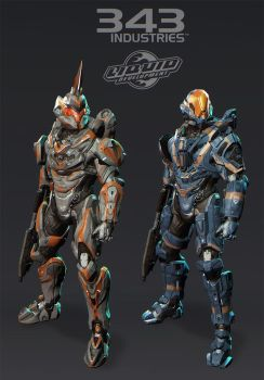 halo 4 suits - fotus and rogue by polyphobia3d