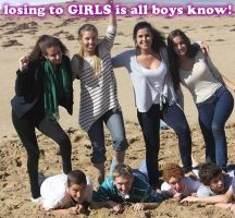 losing to GIRLS is all boys know! by GirlzRuleOwnFuture