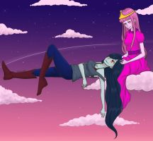 Marceline and Princess Bubblegum by lagoliv