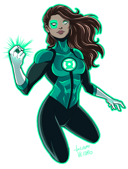 Green Lantern Jessica Cruz Rebirth by LucianoVecchio
