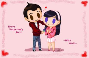 Wil and Vi Valentine by Bonka-chan