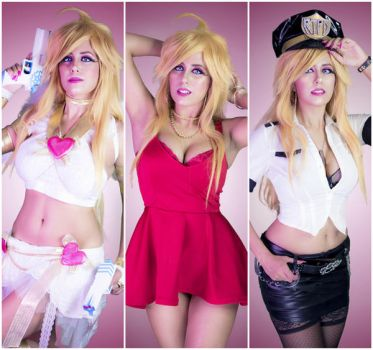 Trifecta of Panty Cosplays! by Khainsaw