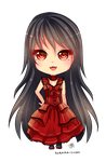 -- Chibi commission for MYSTERYxGIRL -- by Kurama-chan